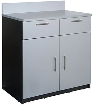 "Breaktime 1 Piece Group Model 2092 Break Room Lunch Room Cabinet""Ready-To-Install/Ready-To-Use"", Color Espresso/Grey Metallic"