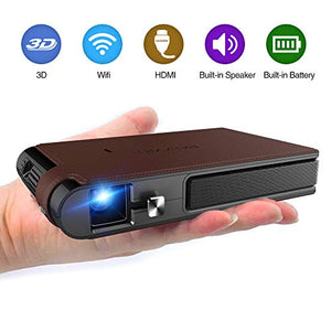 2020 Mini Pocket Wifi Projector 3D DLP 3600 Lumens Digital HD LED Portable Wireless Movie Projector with Battery Support 1080P Airplay HDMI USB Auto Keystone WXGA Home Theater Outdoor Video Proyector