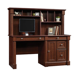 "Sauder 420513 Palladia Computer Desk and Hutch, L: 59.49"" x W: 23.39"" x H: 56.50"", Select Cherry finish"
