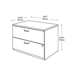 Bush Furniture Series C 2 Drawer Lateral Wood File Cabinet in Natural Cherry