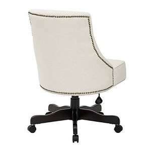 INSPIRED by Bassett BP-REBEX-L32-osp Rebecca Office Chair, Linen