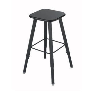 Safco Products 1205BL Alphabetter Stool for Alphabetter Stand-Up Desk (sold separately), Black Frame/Black Seat