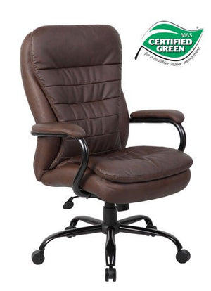 Boss Office B991-BB/CP Heavy Duty Double Plush LeatherPlus/CaressoftPlus Chair