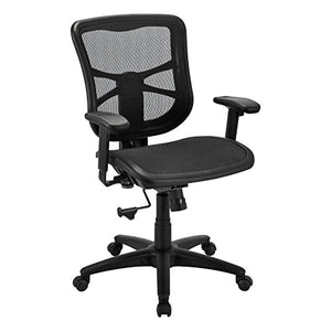 Alera ALEEL42B18 Elusion Series Air Mesh Mid-Back Swivel/Tilt Chair, Black