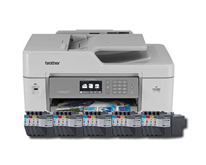 Brother MFC-J6535DWXL All-in-One Color Inkjet Printer, Wireless Connectivity, Automatic Duplex Printing, Includes up to 2 Years of Ink