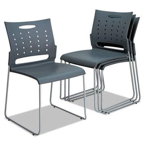 Alera Continental Series Plastic Perforated Back Stack Chair- ALESC6546