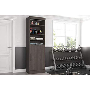 "Bestar 25"" Storage Unit with Door - Nebula"