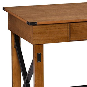 Southern Enterprises Canton Adjustable Height Desk - Adjusting Height Riser for Standing - Hidden Compartments