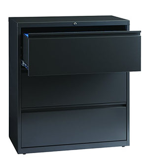 "Office Dimensions Commercial Grade 36"" Wide 3 Drawer Lateral File Cabinet, Charcoal"