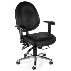 "OFM 24-Hour Office Chair - 20"" to 23"" Seat Height - Black - Black"