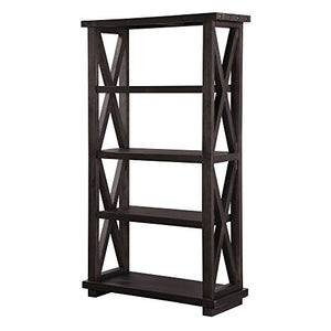 Modus Furniture 7YC91939 Yosemite Solid Wood Bookcase, Café