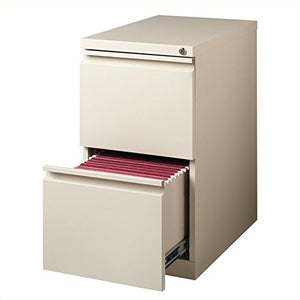 Hirsh Industries 2 Drawer Mobile File Cabinet File in Putty