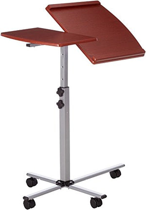 Generic r Bed Table Rolling l O Desk Top k Top Laptop Wooden Tray Adjustable TIlt p Food Wooden T Hospital Over Bed Food Wood Laptop Food
