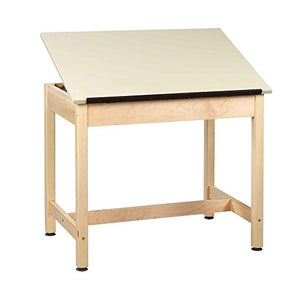 "Diversified Woodcrafts DT-30A UV Finish Solid Maple Wood Art/Drafting Table with 1 Piece Top, Plastic Laminate Top, 42"" Width x 39-3/4"" Height x 30"" Depth"