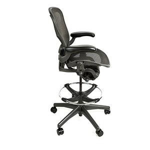 Herman Miller Aeron Drafting Stool with After Market Drafting Ring (A)