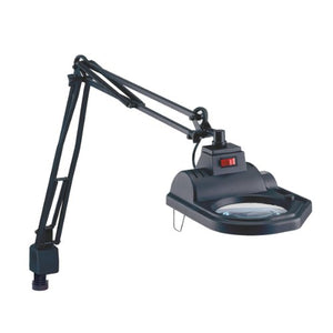 "Electrix 7426 BLACK Magnifier Lamp, Halogen, 3-Diopter, Clamp-on Mounting, 45"" Reach, 100 Watt, 1,600 Raw Lumens"