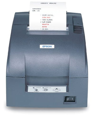 Epson C31C514667 Dot Matrix Receipt Printer TM-U220B, Ethernet, Autocutter, Power Supply Included, Dark Gray