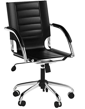 Safco Products 3456BL Flaunt Managers Leather Chair, Black