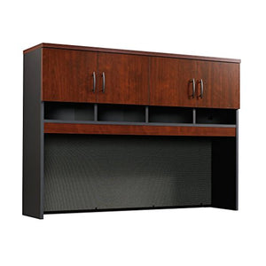 Sauder 419717 Via Credenza Hutch, Classic Cherry Finish