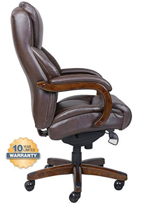 La-Z-Boy Delano Big & Tall Executive Bonded Leather Office Chair - Chestnut (Brown)