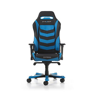 DXRacer Iron series OH/IS166/NB Large size Seat Office Chair Gaming Ergonomic with - Included Head and Lumbar Support Pillows (Black / Blue)