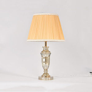 505 HZB Crystal Lamp European Bedroom Bedside Lamp Room Study Lamps (Size : M3361cm)