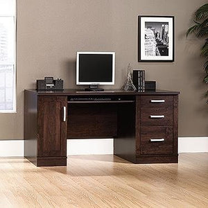 "Sauder 408291 Office Port Credenza, L: 10.88"" x W: 21.88"" x H: 24.50"", Dark Alder finish"