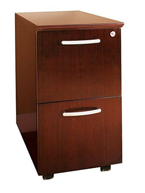 Mayline VFFCRY Napoli Mobile File Pedesal, 2 Drawers, Sierra Cherry Veneer