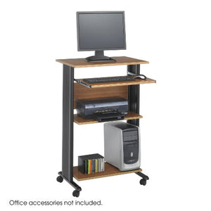 "Safco Products 1923MO Muv 45"" H Stand-Up Desk Fixed Height Computer Workstation with Keyboard Shelf, Medium Oak"