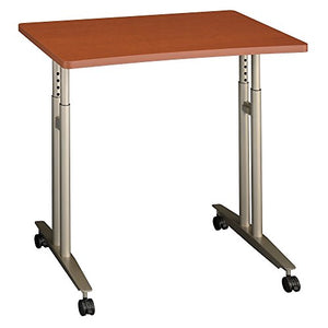 Bush Business Furniture Series C Collection 36W Adjustable Height Mobile Table in Auburn Maple