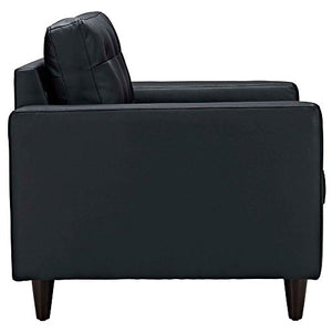 "Armchair Leather Set of 2 Dimensions: 35.5""W x 35.5""D x 34.5""H Weight: 132 lbs Black"