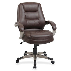 Lorell Mid-Back Managerial Chair, 26-1/2 by 28-1/2 by 43-1/2-Inch, Saddle