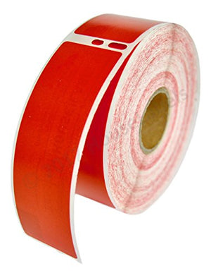 "100 Rolls; 350 Labels per Roll of DYMO-Compatible 30252 RED Address Labels (1-1/8"" x 3-1/2"") -- BPA Free!"