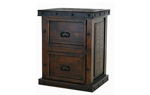 RR Rustic Gran Hacienda 2 Drawer File Cabinet Solid Wood Lodge Old World