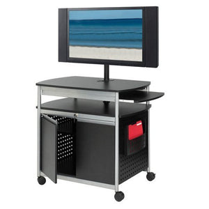 Safco Products 8941BL Scoot Flat Panel Multimedia Cart, Black