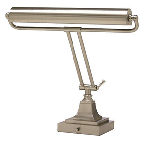 House of Troy P15-83-52 16-Inch Portable Desk/Piano Lamp, Satin Nickel Finish