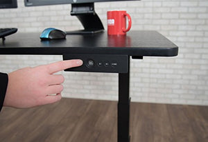 "Luxor Furniture 60"" Electric Standing Desk - Black Oak"