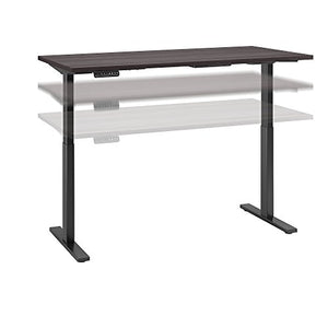 Move 60 Series 72W x 30D Height Adjustable Standing Desk in Storm Gray with Black Base