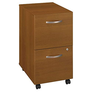 "Bush 3-Drawer Pedestal, 15-3/4"" X 20-3/8"" X 28-1/8"", Warm Oak"