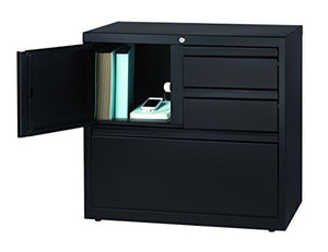 "Office Dimensions 30"" wide File Cabinet and Personal Storage Combo - Black"