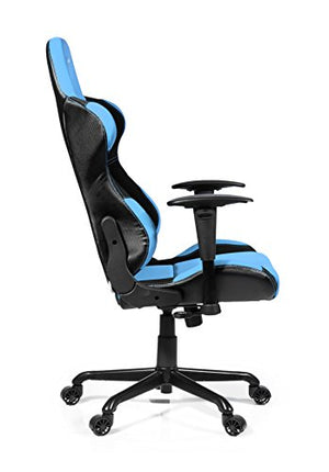 Arozzi Torretta XL Series Gaming Racing Style Swivel Chair, Azure