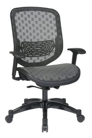 SPACE Seating DuraFlex Charcoal Back and Seat, Self Adjusting 4-to-1 Synchro Tilt with Gunmetal Finish Managers Chair