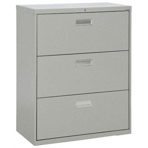 "Sandusky Lee LF6A363-MG 600 Series 3 Drawer Lateral File Cabinet, 19.25"" Depth x 40.875"" Height x 36"" Width, Multi Granite"