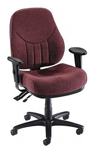 Lorell High-Back Multi-Task Chair, 26-7/8 by 26 by 39-Inch to 42-1/2-Inch, Burgundy