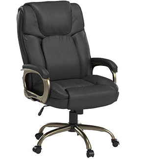 Office Star Executive Big Man's Chair with Eco Leather Seat and Back, Espresso