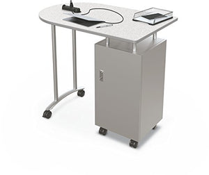 "Balt Stand Up Mobile Teacher Workstation Desk, Grey Nebula Top, 40"" H x 47.6"" W x 30"" D (91170)"