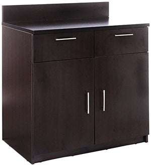 "Breaktime 1 Piece Group Model 2091 Break Room Lunch Room Cabinet""Ready-To-Install/Ready-To-Use"", Color Espresso"