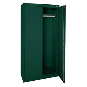"Sandusky Lee EAWR462472-08 Elite Series Wardrobe Storage Cabinet, 46"" Width x 24"" Length x 72"" Height, Forest Green"