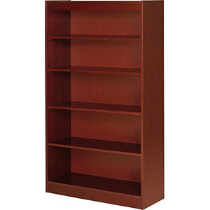 "Lorell 89053 5 Shelf Panel Bookcase, 36""x12""x60"", Cherry"