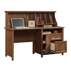 "Sauder 419401 Edge Water Computer Desk With Hutch, L: 59.06"" x W: 23.31"" x H: 46.42"", Auburn Cherry finish"